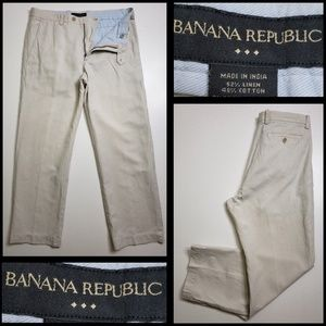 # BANANA REPUBLIC  size 33X30 beige straight pants
